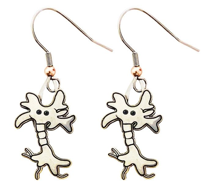 Brain Cell earrings close