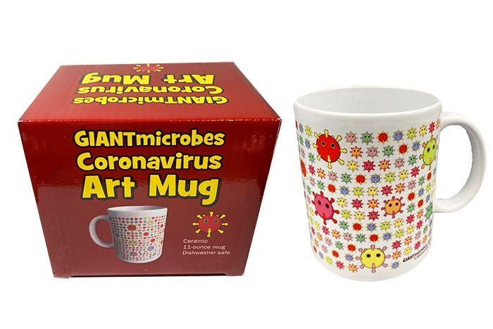 Coronavirus art mug with box