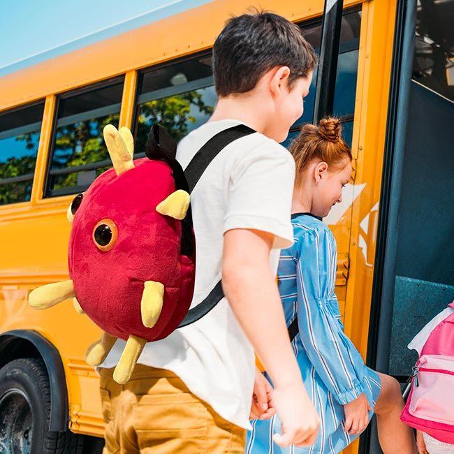 Covid backpack boy