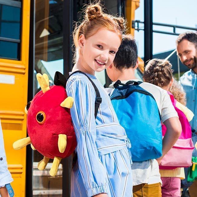 Covid backpack girl