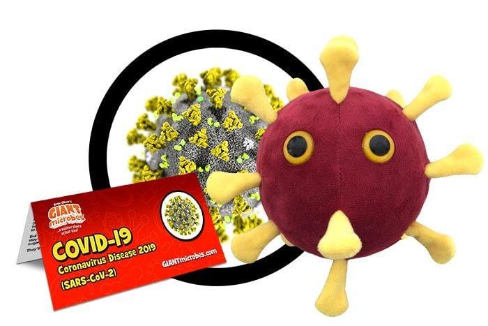 COVID-19 plush cluster
