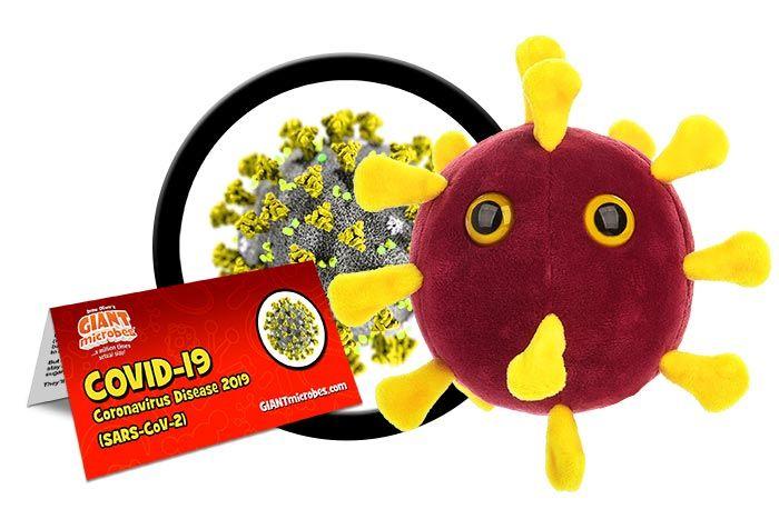 COVID plush cluster