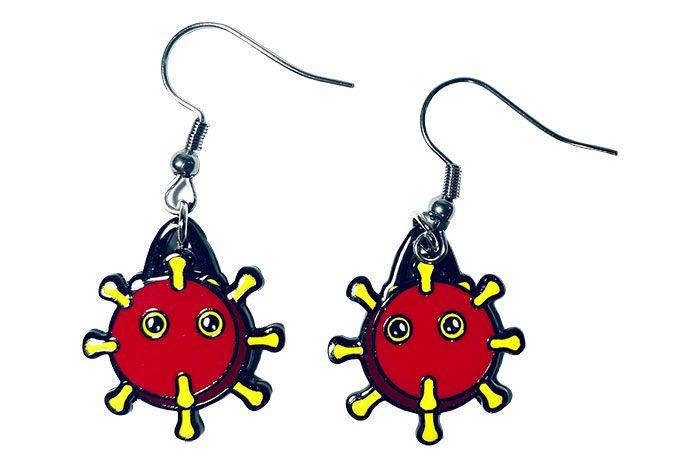 Coronavirus earrings