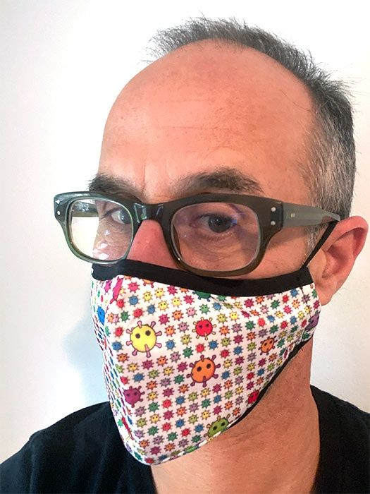 Coronavirus Face Mask angle