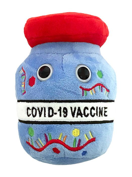 COVID vaccine plush doll