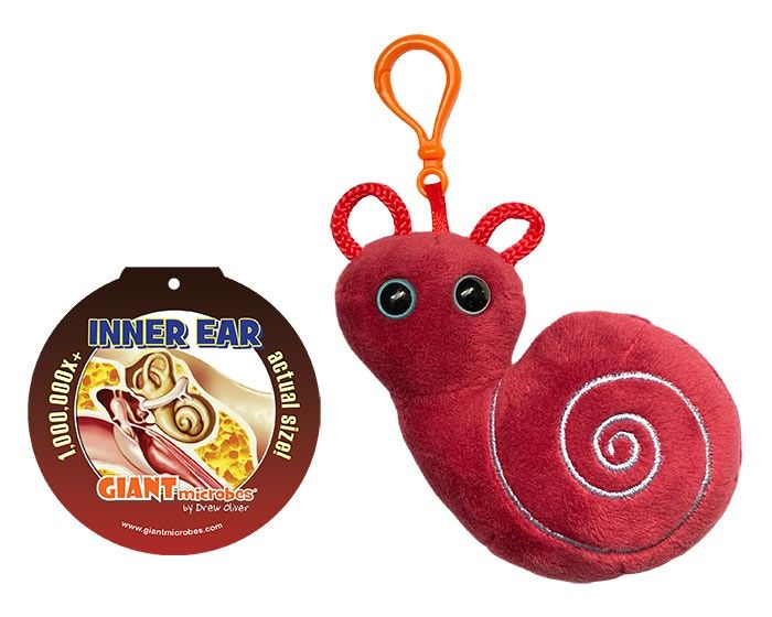 Inner Ear key chain with tag