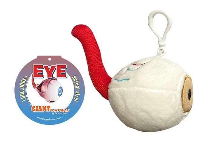 Eye key chain with tag
