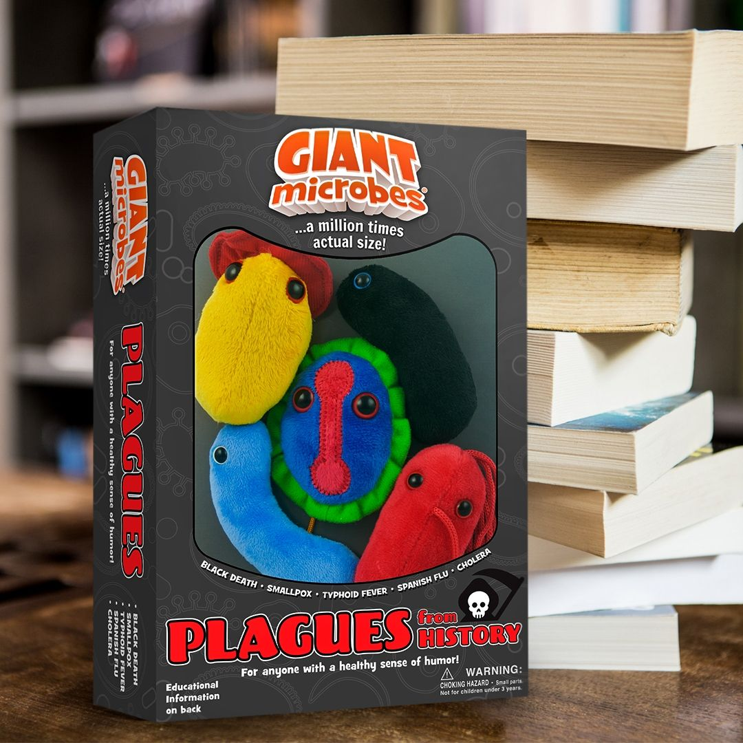 Plagues box with books
