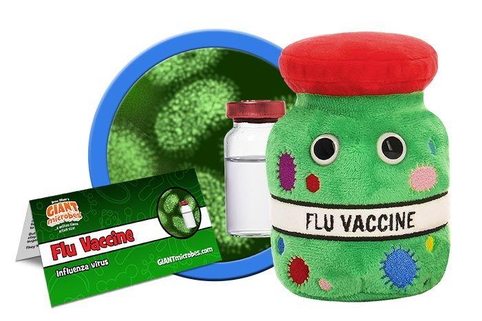 Flu Vaccine plush cluster