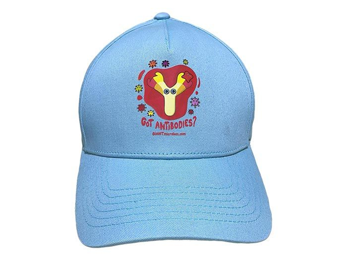 Got Antibodies hat light blue front