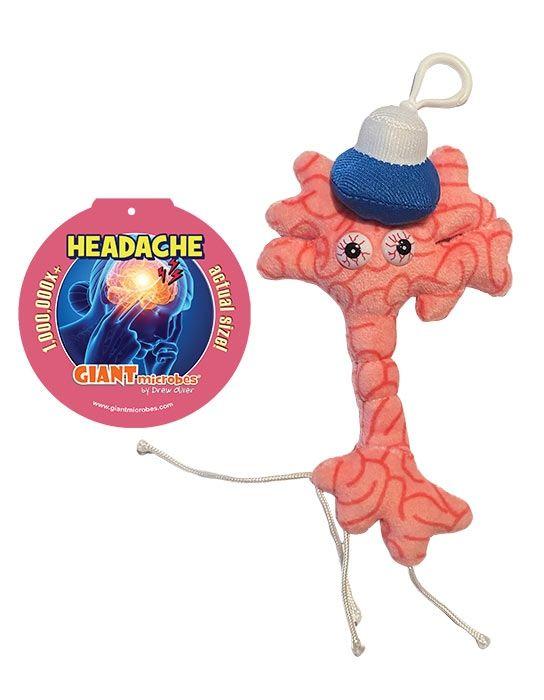 Headache key chain with tag