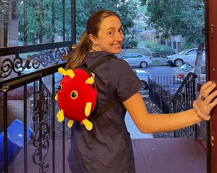Covid backpack nurse