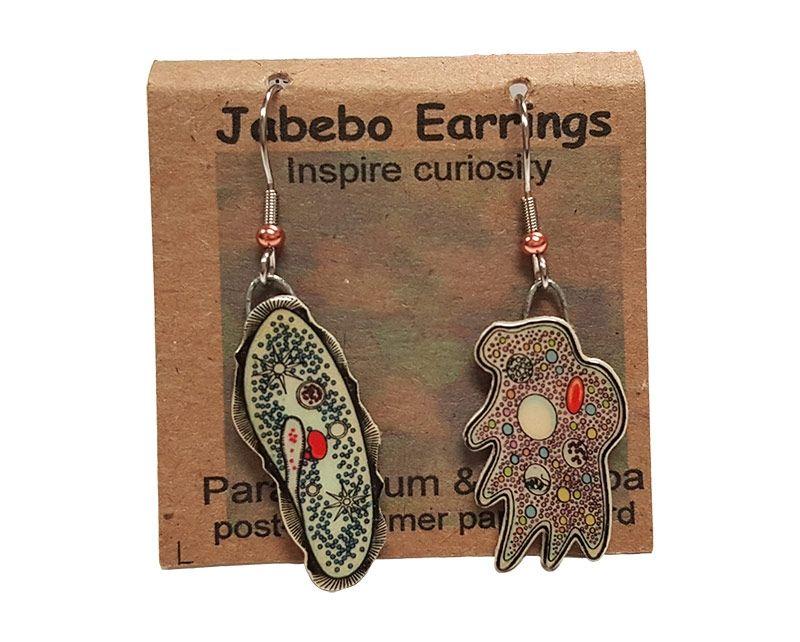 Paramecium Amoeba earrings