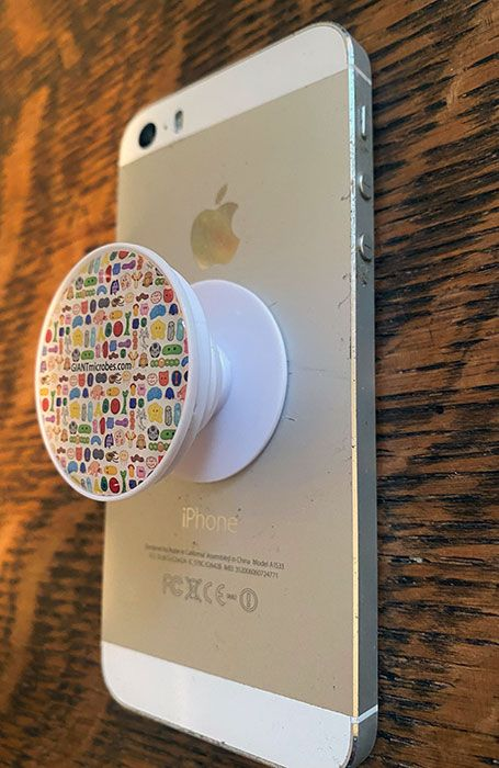 Microbes PopSocket white angle