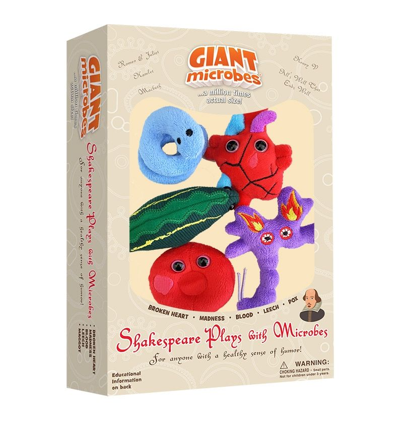 Giant Microbes Themed Box Set Shakespeare Plays with Microbes Giantmicrobes