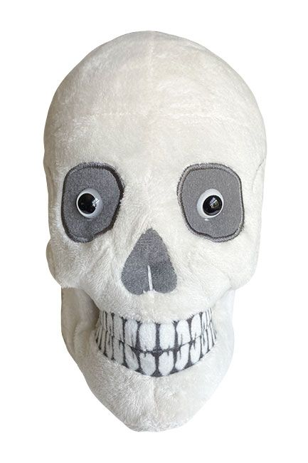 Skull plush front view