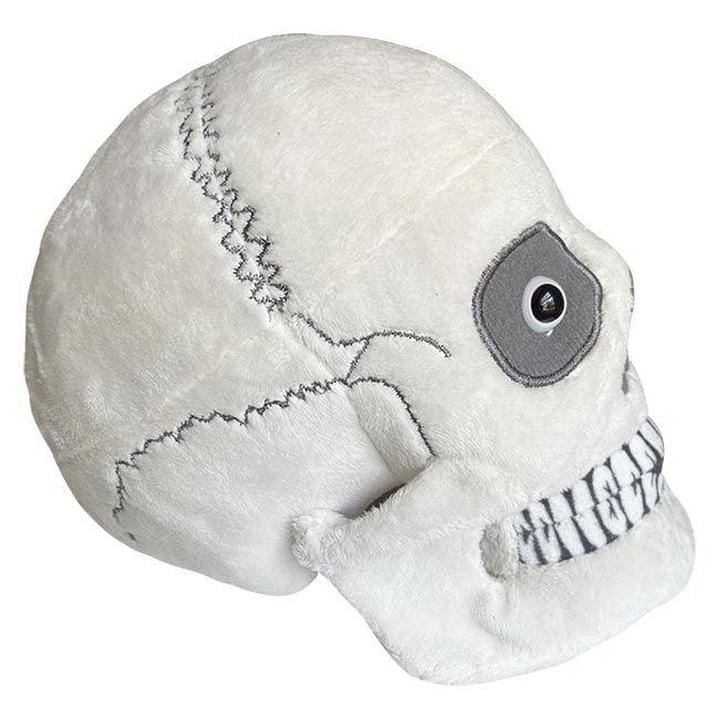 Skull plush side view