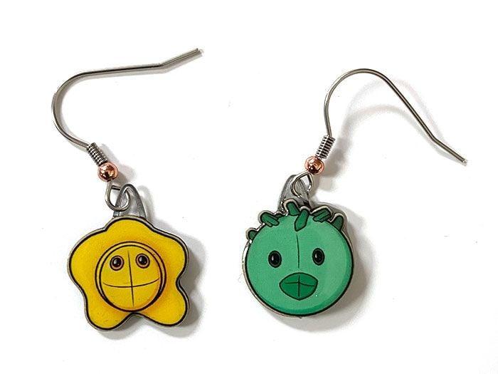 STD earrings close