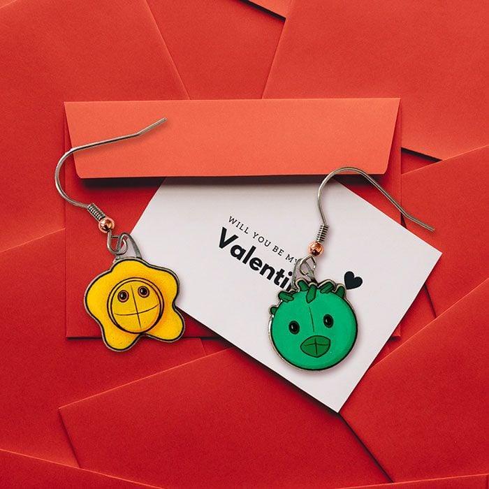 STD earrings valentine