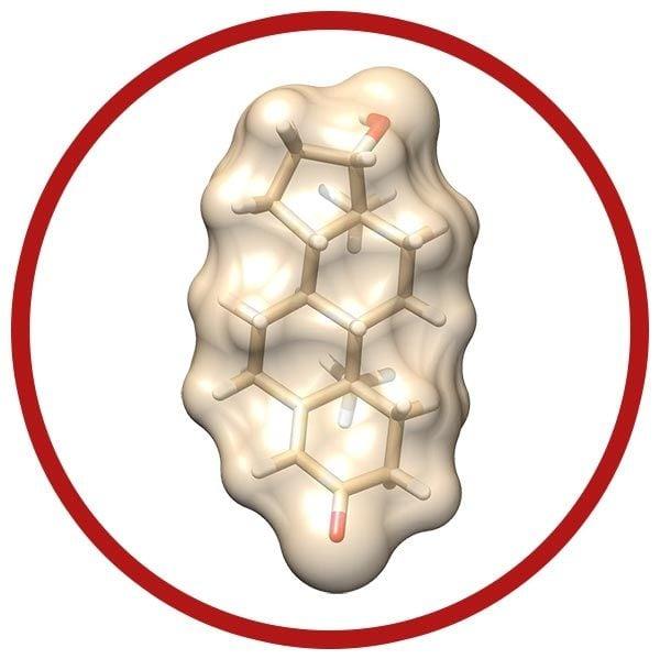 Testosterone real molecule