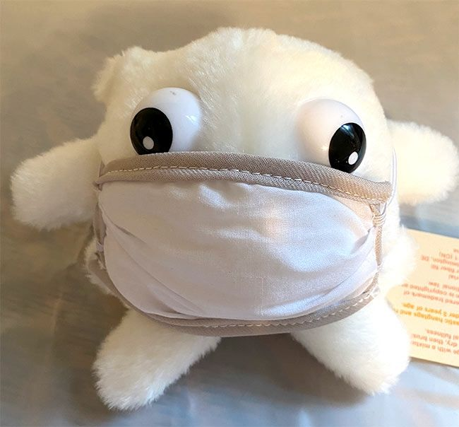 Microbe Mask White Blood