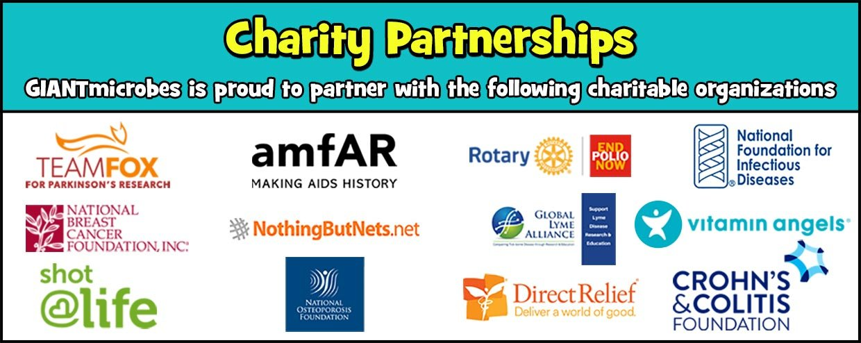 GIANTmicrobes Charity Partnerships