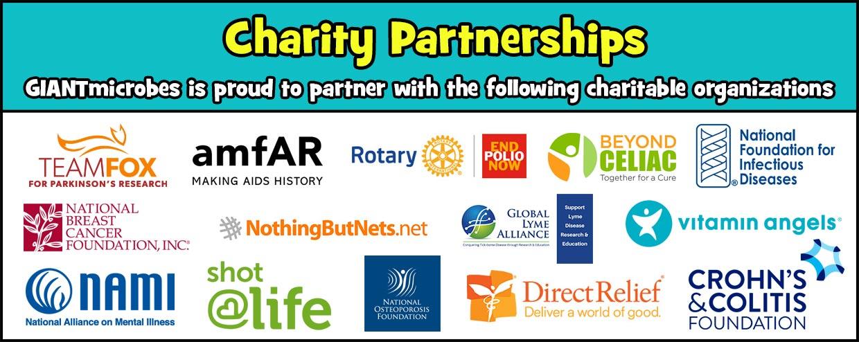 GIANTmicrobes Charity Partnerships