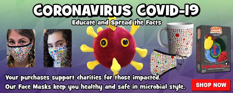 GIANTmicrobes Coronavirus COVID-19 and Face Mask