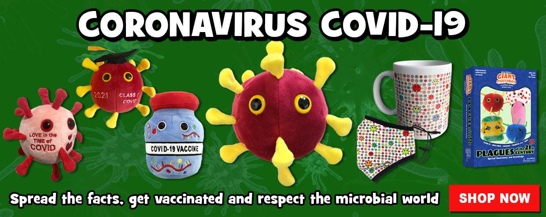 GIANTmicrobes Coronavirus COVID-19, Masks and Vaccine